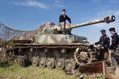 Panzer III reenactment Royalty Free Stock Photography