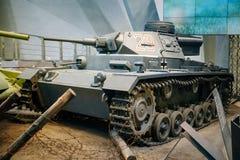 Panzer III tank door Duitsland in Wereldoorlog II binnen wordt gebruikt die Stock Foto's