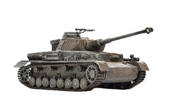 PANZER IV GERMAN BATTLE TANK - IN WHITE BACKGROUND (PLASTIC - SCALE MODEL 1/35 SCALE) Stock Photos