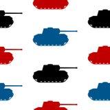 Panzer symbolu bezszwowy wzór Obrazy Stock
