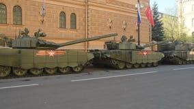 Panzerabteilung, die für die Sieg Parade sich vorbereitet stock video footage