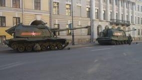 Panzerabteilung, die für die Sieg Parade sich vorbereitet stock video