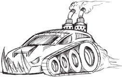 Panzerkampfwagen-Behälter-Skizze Lizenzfreie Stockfotos