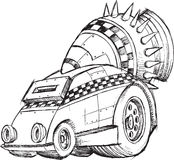 Panzerkampfwagen-Fahrzeug-Skizze Stockfoto