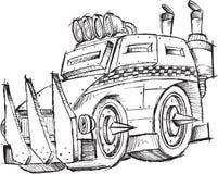 Panzerkampfwagen-Fahrzeug-Skizze Stockbild