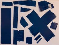 Panzerklebebandstücke lizenzfreies stockbild