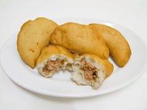 Panzerotti. Alimento italiano. fotografía de archivo