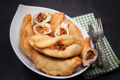 Panzerotti Typical Italian Recipe Royalty Free Stock Images