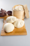 pao或亚洲小圆面包在背景 图库摄影