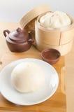 pao或亚洲小圆面包在背景 库存图片