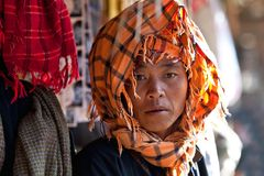 PaO部落妇女,缅甸 免版税图库摄影