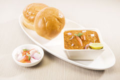 Pao Bhaji,印地安食物 免版税库存图片