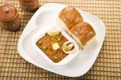 Pao Bhaji Stock Photo
