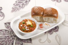 Pao Bhaji. Indian Food dish Royalty Free Stock Images