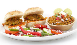 Pao Bhaji Royalty Free Stock Photo