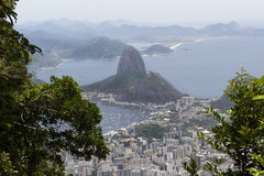 Pao de Acucar landscape royalty free stock photos