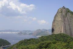Pao de Azucar Sugarloaf i Rio de Janeiro, Brasilien Arkivbild