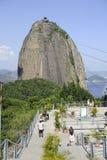 Pao de Azucar Sugarloaf i Rio de Janeiro, Brasilien Arkivfoton