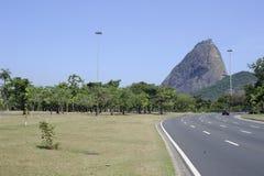 Pao de Azucar Sugarloaf i Rio de Janeiro, Brasilien Royaltyfri Bild