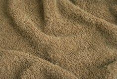 Paño de terry de la toalla de Brown Imagen de archivo