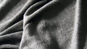Paño de terry gris de la toalla Fotografía de archivo libre de regalías