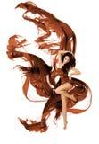 Paño del vuelo de la tela del baile de la mujer, bailarín Waving Dress de la moda Fotos de archivo