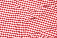 Paño rojo de la comida campestre Imágenes de archivo libres de regalías