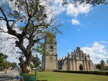 Paoay教会在北伊罗戈省-正面图 库存图片