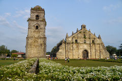 Paoay church in the philippines. Historic landmark paoay church in northern philippines Stock Image