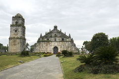 Paoay colonial era church philippines Royalty Free Stock Photos
