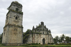 Paoay old colonial church ilocos philippines Stock Photo