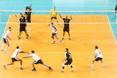 PAOK ARIS GREEK VOLLEY LEAGUE Royalty Free Stock Photos
