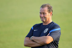 PAOK COACH HUUB STEVENS Stock Images