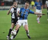 PAOK FC - CLUB BRUGGE KV Royalty-vrije Stock Foto