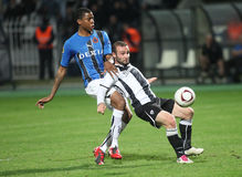 PAOK FC - CLUBE BRUGES QUILOVOLT Imagens de Stock