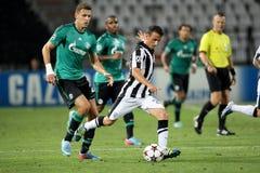 PAOK gegen Schalke Lizenzfreie Stockbilder