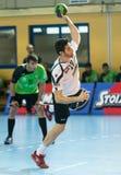 PAOK grego do campeonato do handball contra Diomidis Fotos de Stock Royalty Free