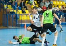 PAOK grego do campeonato do handball contra Diomidis Foto de Stock