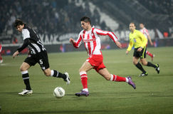 Paok and Olympiakos (0-2) Stock Photography