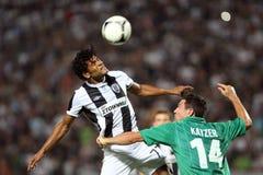 PAOK przeciw Błyskawicznemu futbolowemu dopasowaniu zdjęcia stock