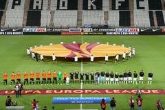 Paok Saloniki - FC Shakhter Karagandy,Europa League Stock Photo