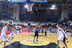 PAOK THESSALONIKI vs KHIMKI EUROCUP GAME Stock Photos