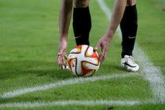 PAOK VS LIGAN FÖR FIORENTINA UEFA-EUROPA arkivbild