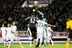 PAOK VS LIGAN FÖR FIORENTINA UEFA-EUROPA royaltyfria bilder