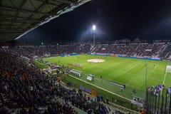 PAOK VS LIGAN FÖR FIORENTINA UEFA-EUROPA royaltyfri bild