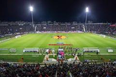 PAOK VS LIGAN FÖR FIORENTINA UEFA-EUROPA fotografering för bildbyråer