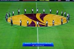 PAOK VS LIGAN FÖR FIORENTINA UEFA-EUROPA Royaltyfri Foto