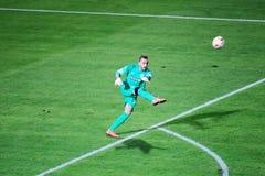 PAOK VS LIGAN FÖR FIORENTINA UEFA-EUROPA arkivfoton