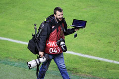 PAOK VS OLYMPIACOS GREEK SUPERLEAGUE stock images