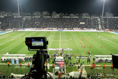 PAOK VS OLYMPIACOS-GREK SUPERLEAGUE Royaltyfri Fotografi